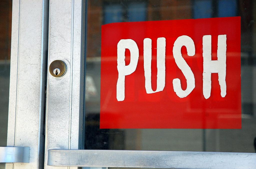 Push, mas não empurre