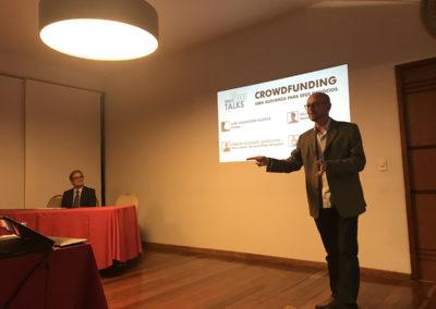 Luiz Guilherme Guedes,  CEO da Strategy, apresentando  novas perspectivas para o empreendedorismo.