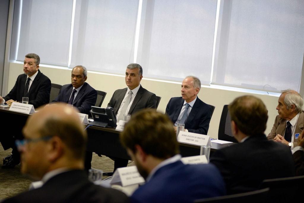 Diretores da EPL e o presidente do Instituto IBMEC se reúnem para debater a visão de grandes usuários do agronegócio e de investidores institucionais no financiamento e investimento em projetos de infraestrutura